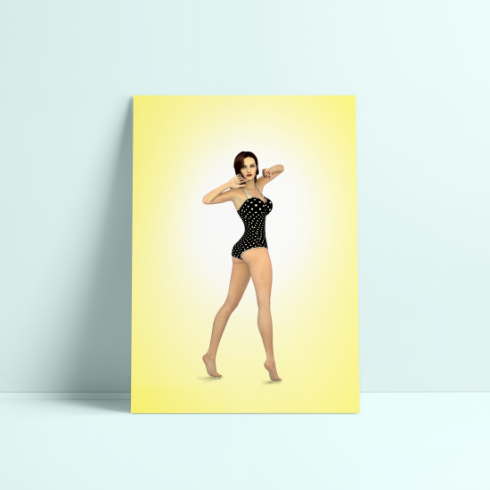 Personaje Pin Up Modelado en 3D