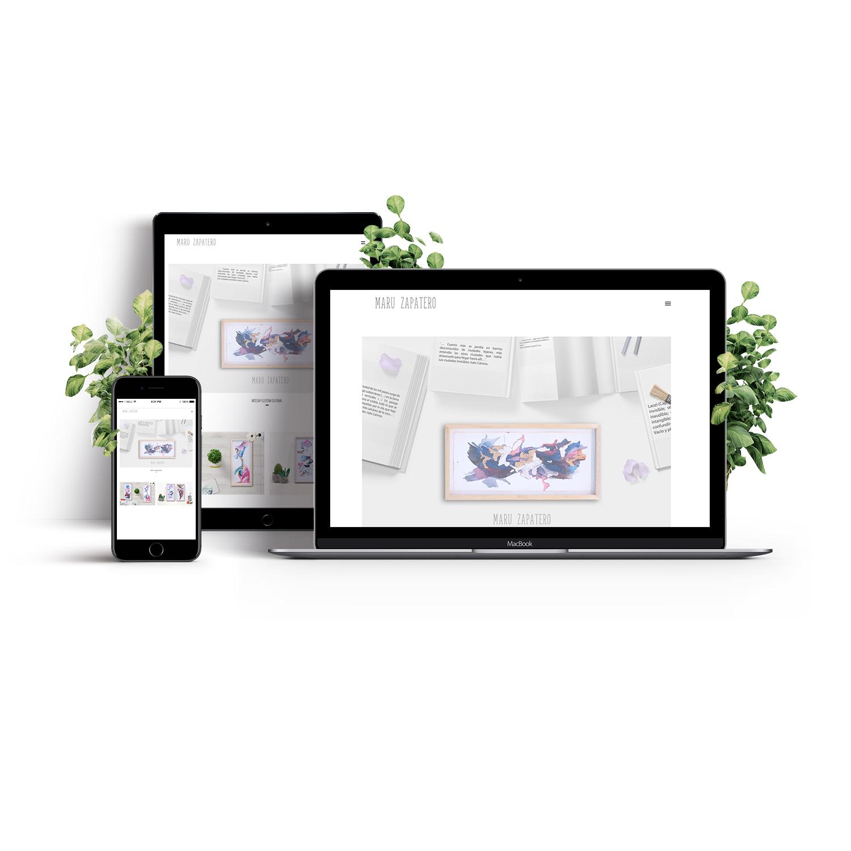 Diseño Web – Artista – Maru Zapatero