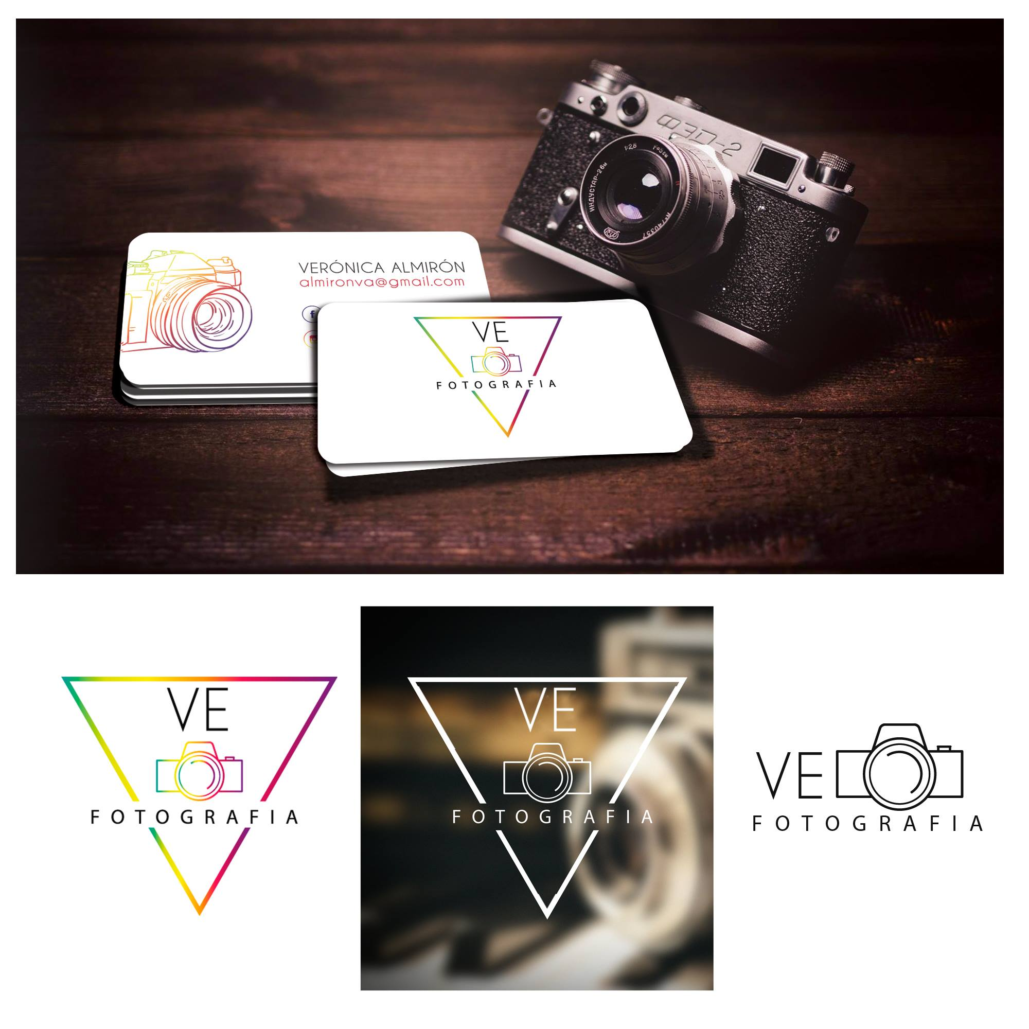 Diseño Logo Ve Fotografia