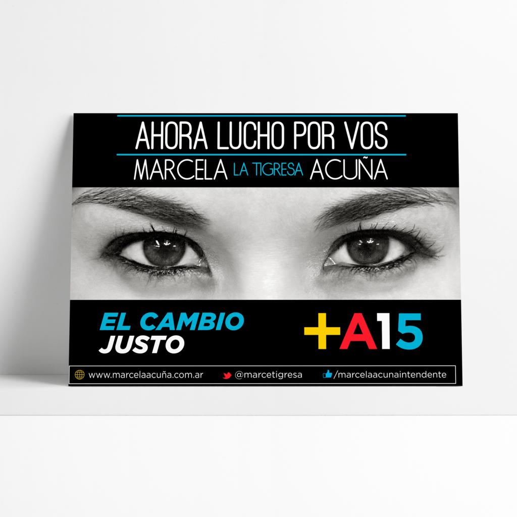 """Branding - Campaña Politica - Marcela """"La Tigresa"""" Acuña"""