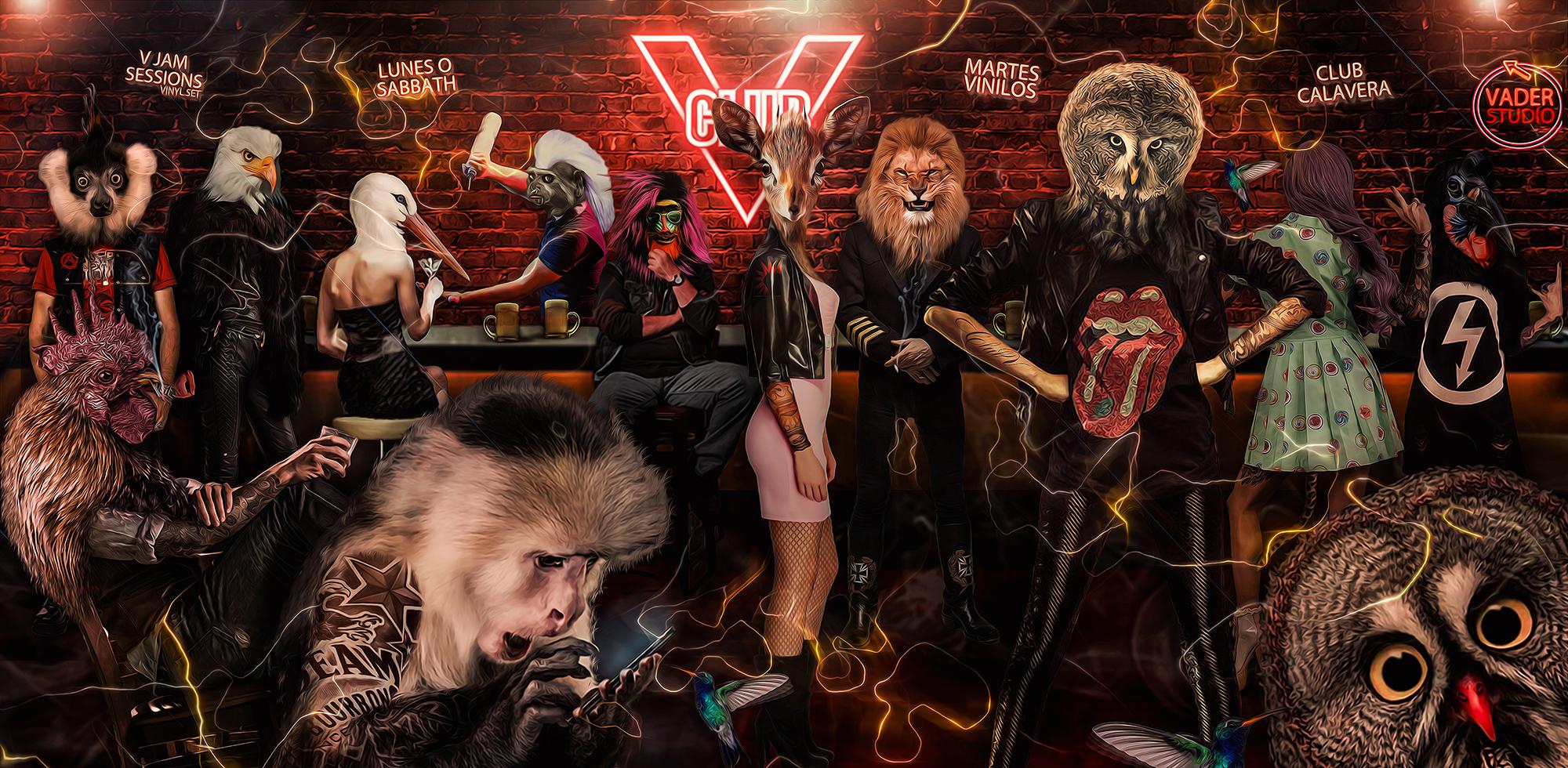 Grafica - Club V - Club de Música
